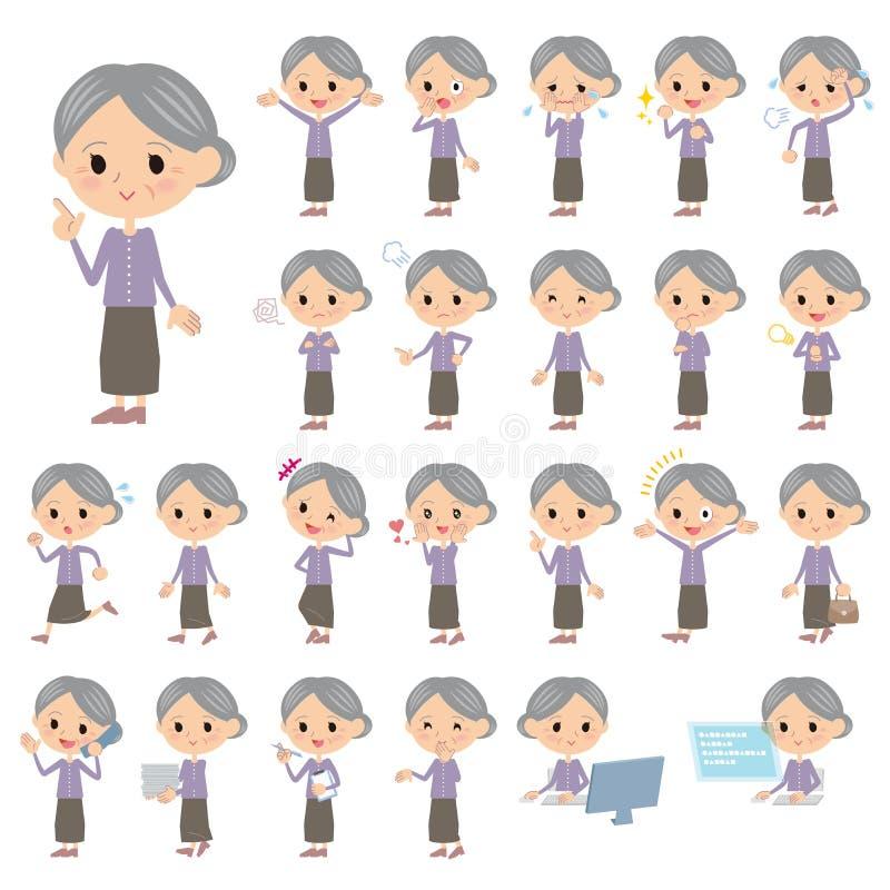 Lilan beklär farmodern vektor illustrationer