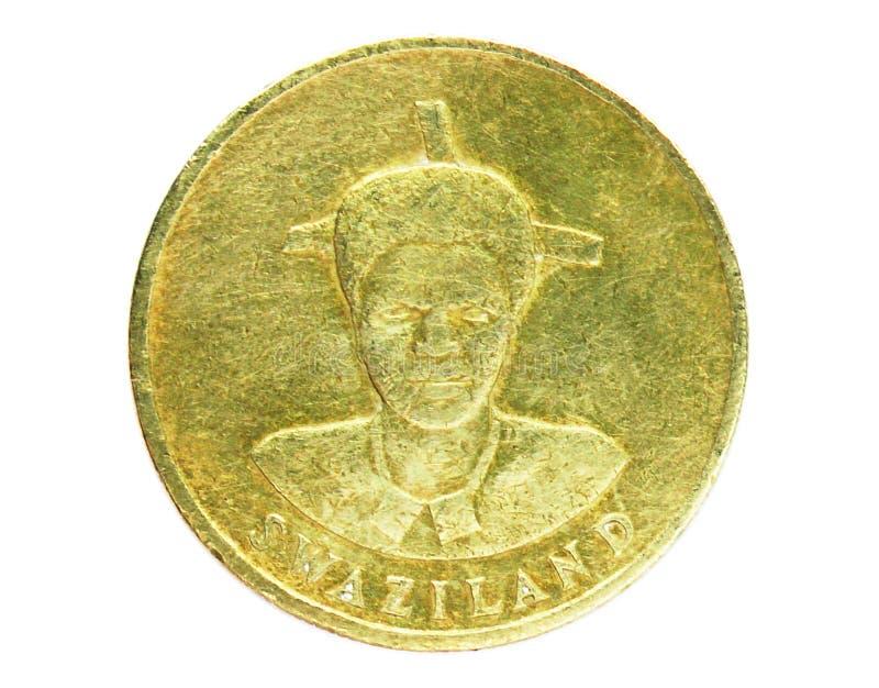 1 Lilangeni Dzeliwe-Münze, 1986~2018 - Mswati III serie, Bank of Swasiland Umkehrung, Ausgabe 1986 lizenzfreies stockfoto