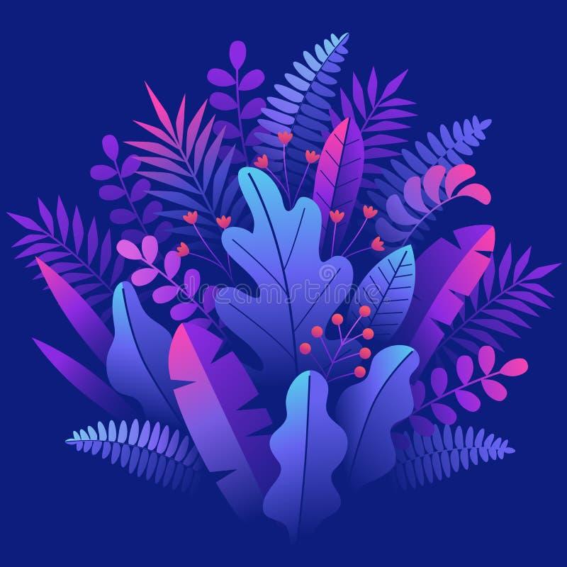 Lilas carré abstrait floral illustration de vecteur