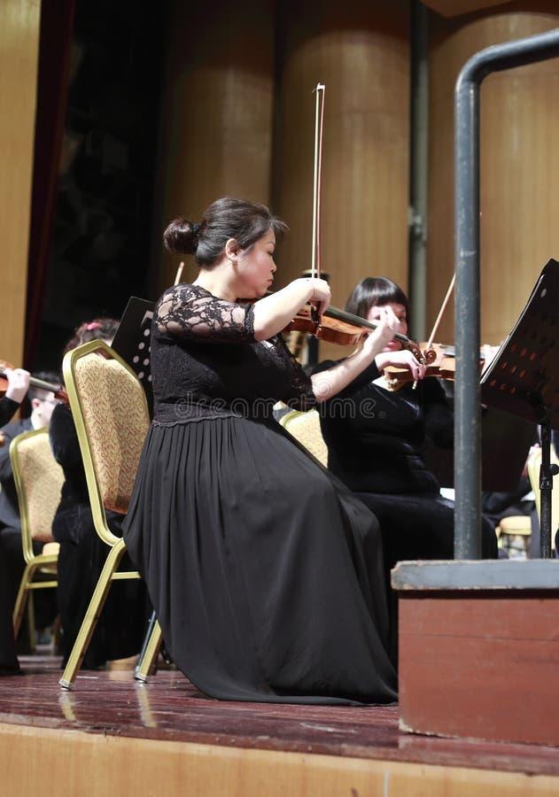 Lilei de violon de chanson de Xiamen premier et d'orchestre de ballet-spectacle images libres de droits