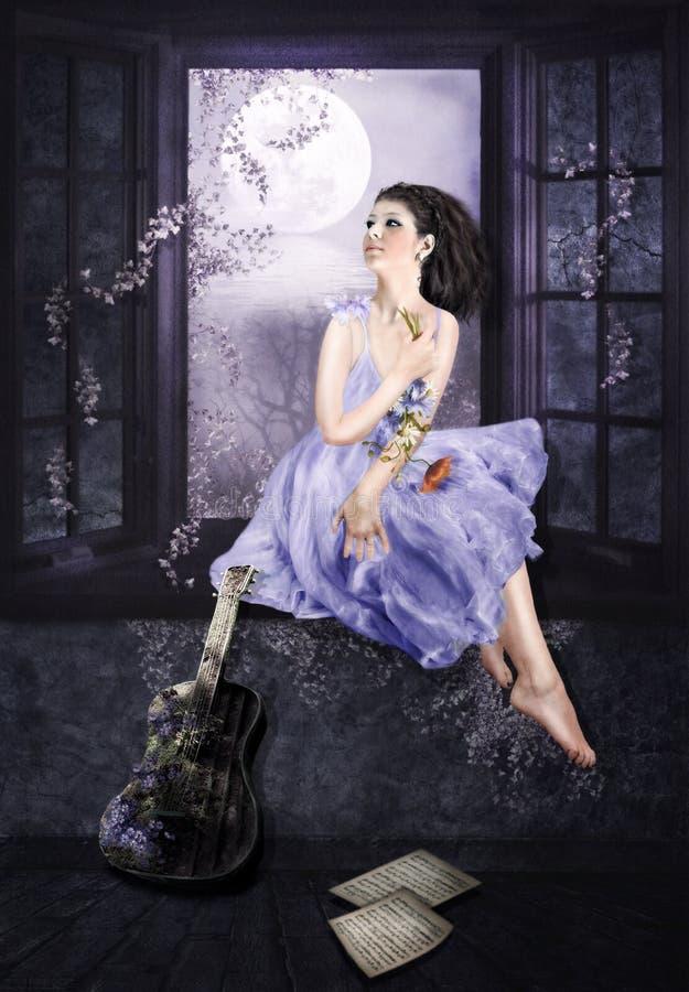 Lili sen royalty ilustracja