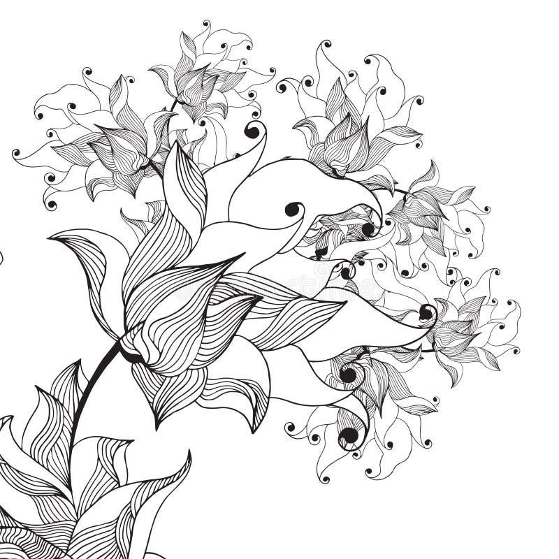 Liliebloem stock illustratie