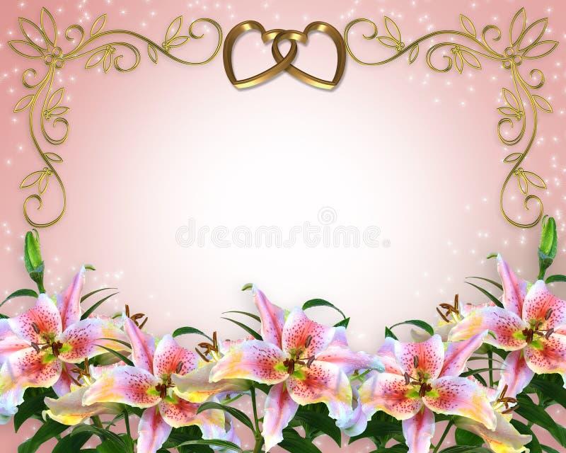 Lilien, die Einladung Wedding sind   vektor abbildung