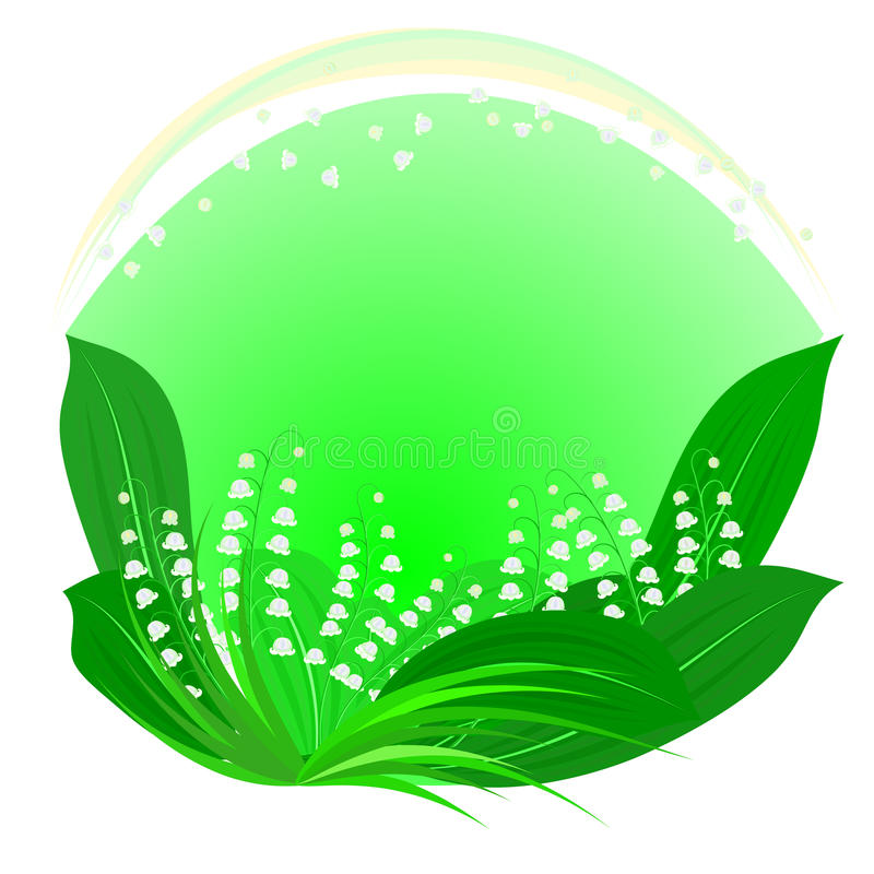 Download Lilies Of The Valley Framework Stock Vector - Image: 12862372