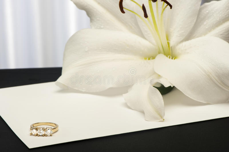 Download A  Lilium And Wedding Rings Stock Photo - Image: 31962760