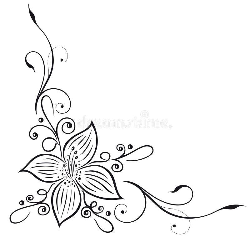 Lilja blom- beståndsdel royaltyfri illustrationer
