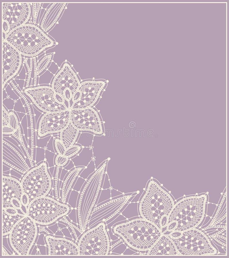 lilja lace Kort stock illustrationer