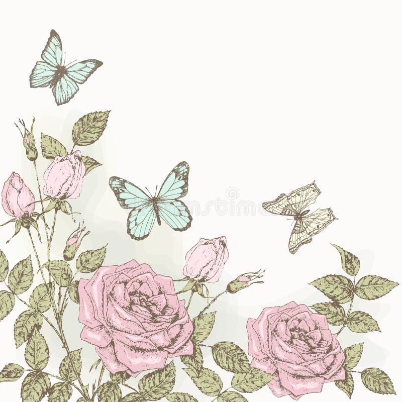 Liljabakgrund royaltyfri illustrationer