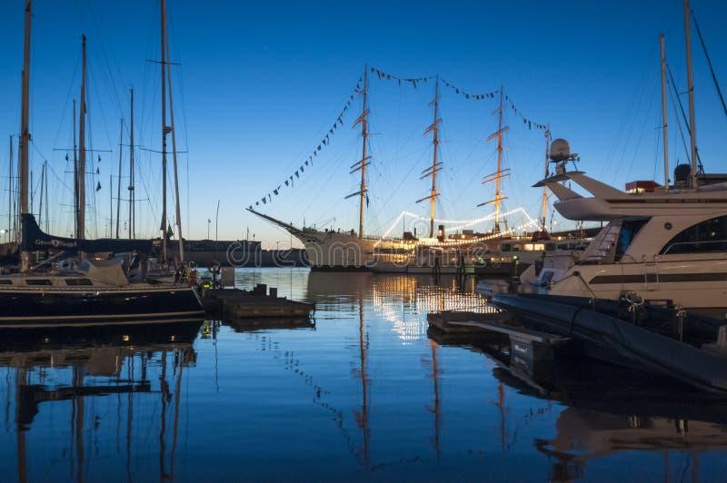 Lilla Bommen-Hafen Gothenburg lizenzfreie stockbilder