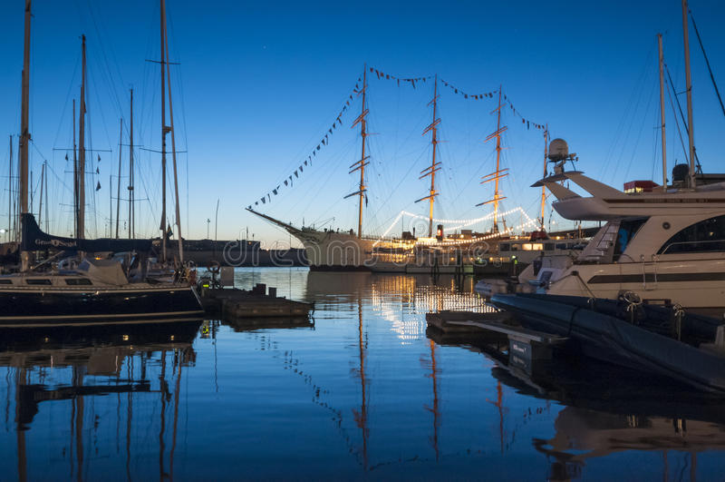 Lilla Bommen hamn Göteborg royaltyfria bilder