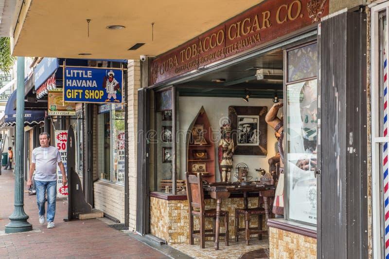 Lilla Havana Miami Cigar Store arkivbilder