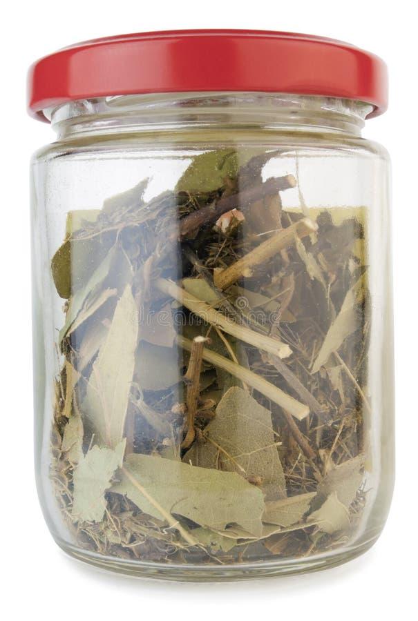 lilla kryddor för dammig glass jar fotografering för bildbyråer