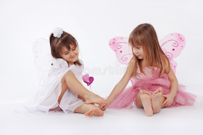 lilla princesses royaltyfri foto