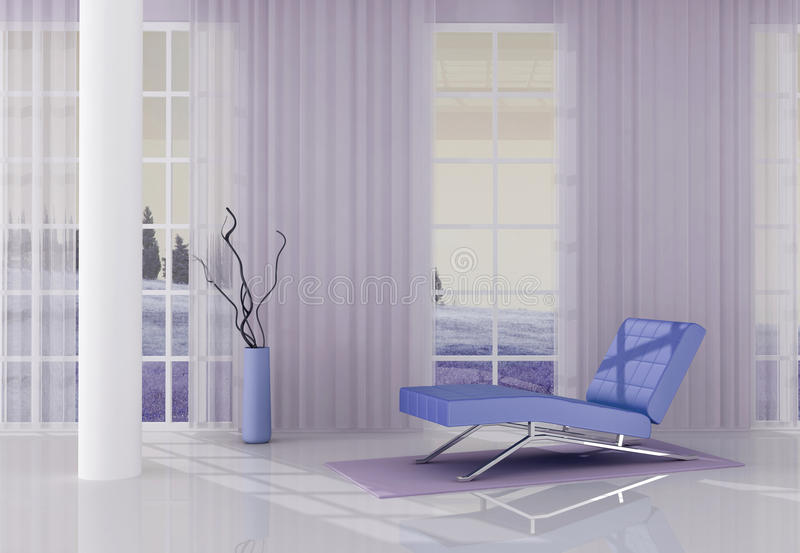 Download Lilla relax room stock illustration. Illustration of relaxation - 10539390