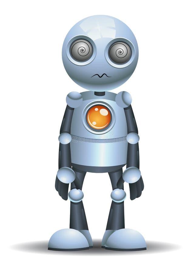 lilla roboten som den ?r, hypnotiserar royaltyfri illustrationer