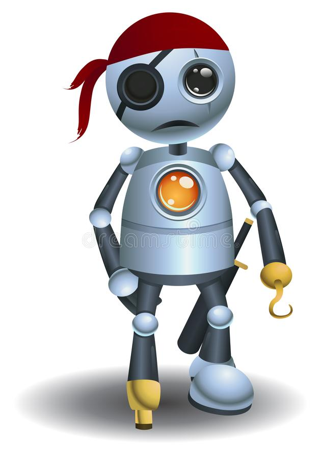 lilla roboten som den ?r a, piratkopierar stock illustrationer