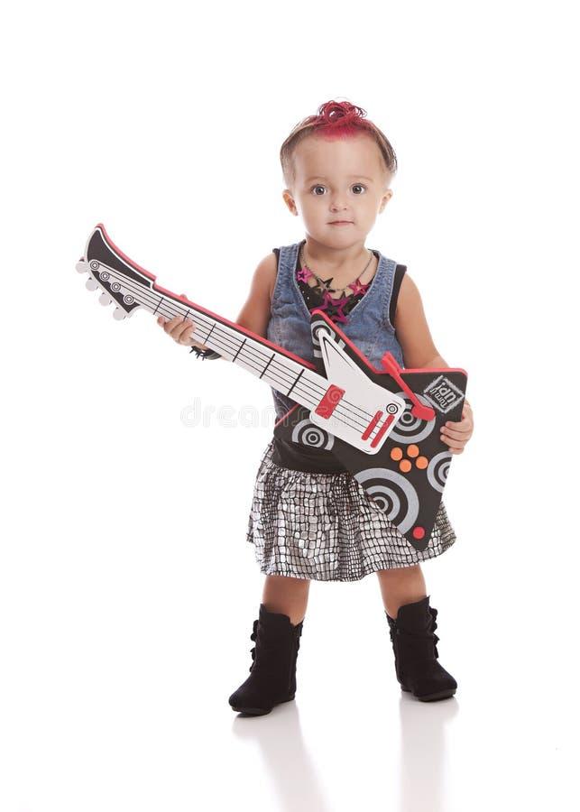 Lilla Rockstar royaltyfria bilder