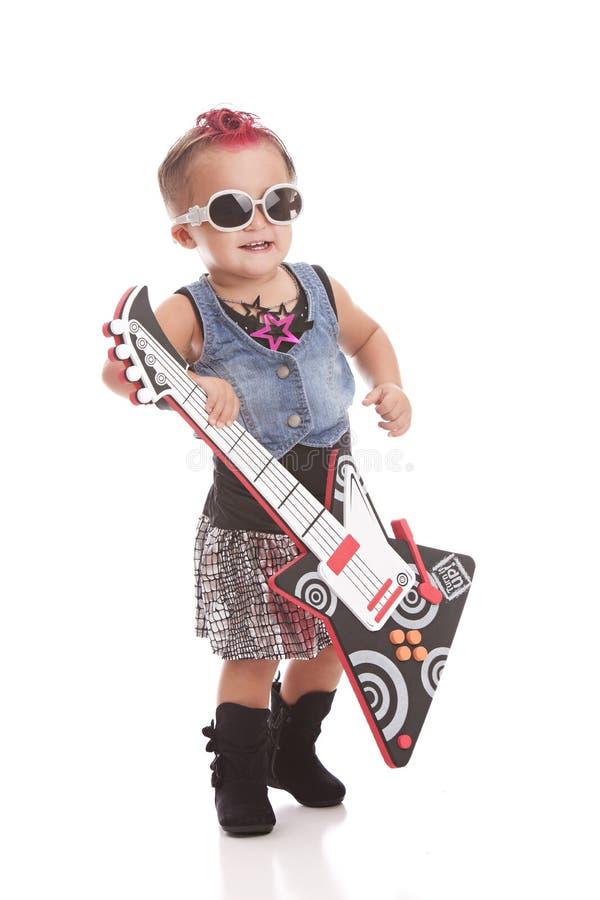 Lilla Rockstar royaltyfri fotografi