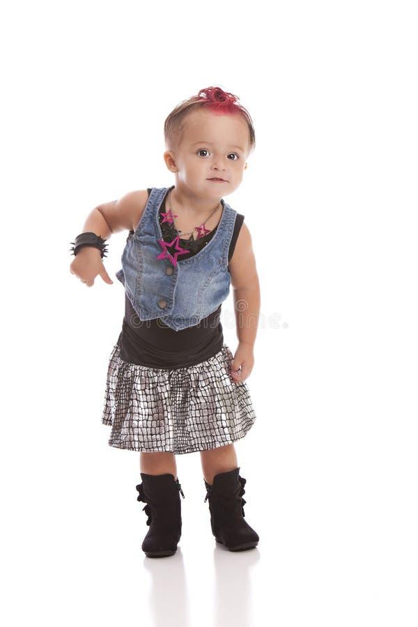 Lilla Rockstar royaltyfri foto