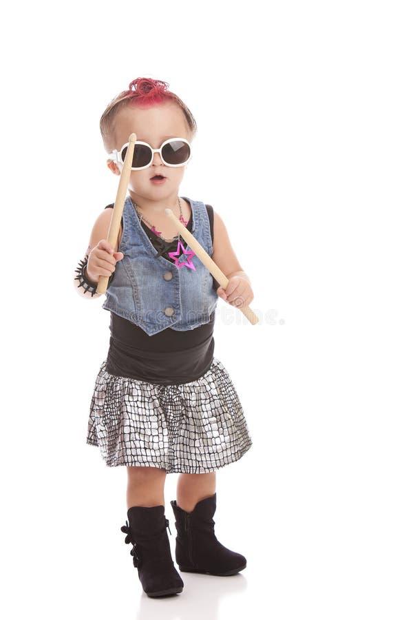 Lilla Rockstar fotografering för bildbyråer