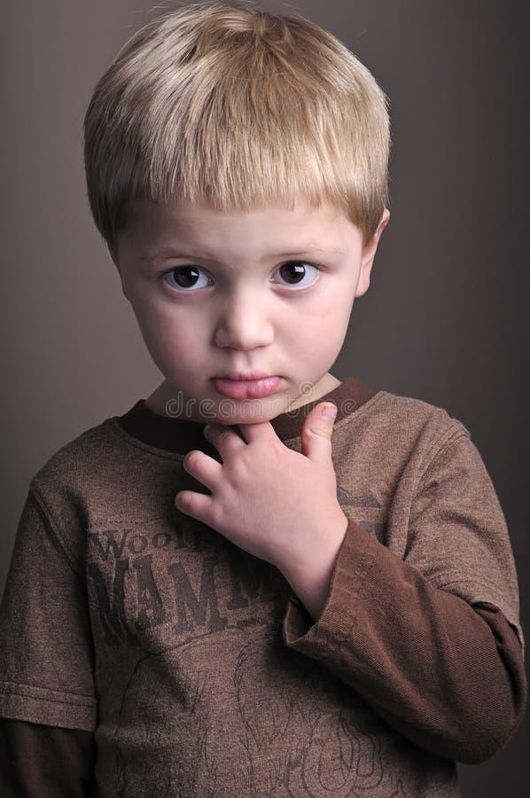lilla stående för pojke royaltyfria foton