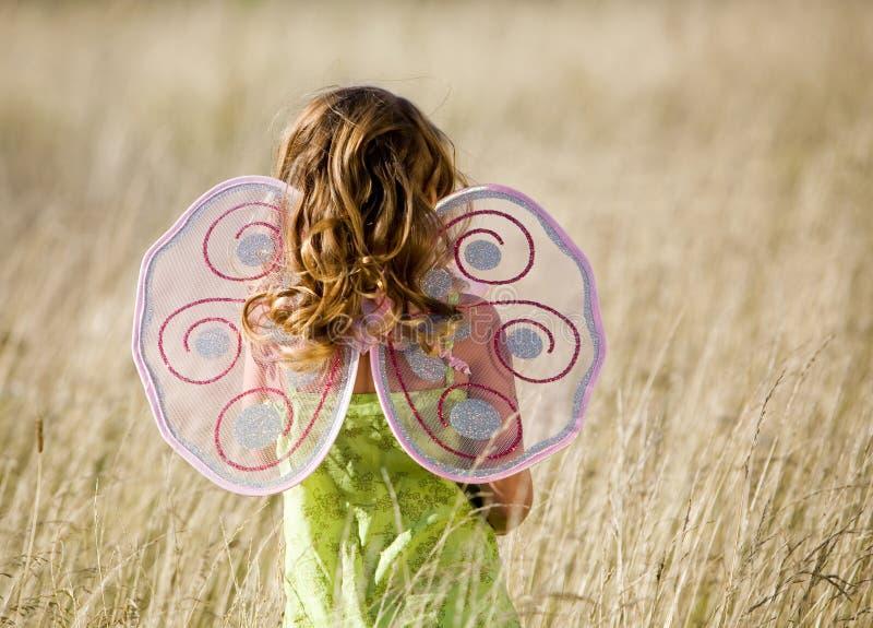 lilla vingar för flicka arkivbilder