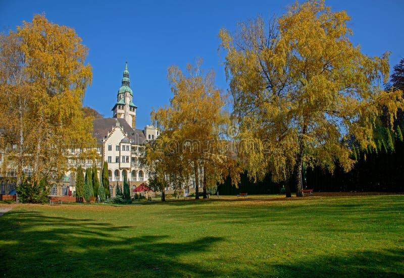 Lillafured pałac i park, Węgry fotografia stock