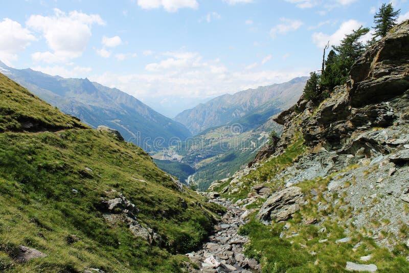 Lillaz, Gran Paradiso National Park. View of Lillaz, inside the Gran Paradiso national park, Valle d`Aosta Italy royalty free stock photography