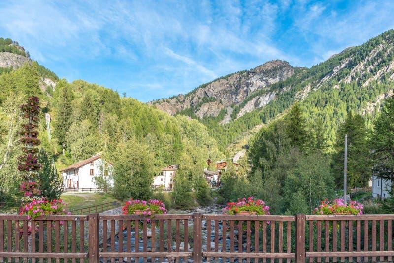 Lillaz in Valle-d'Aosta, Italien lizenzfreie stockbilder