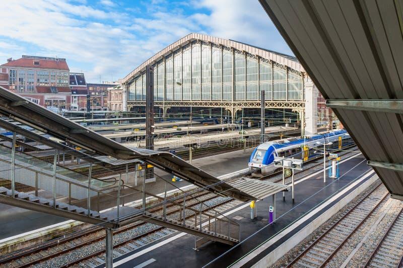 Lille Flandres stacja kolejowa Francja obraz royalty free