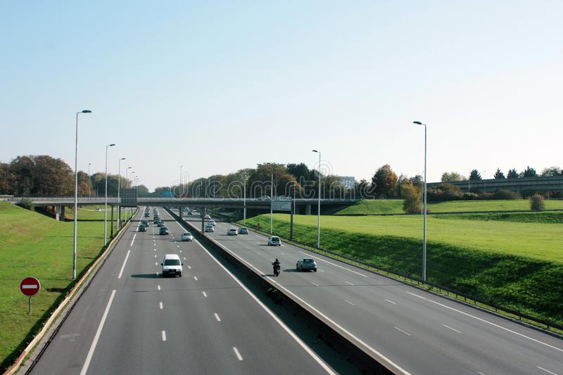 Lille, France - Peripheral Road panorama royalty free stock images