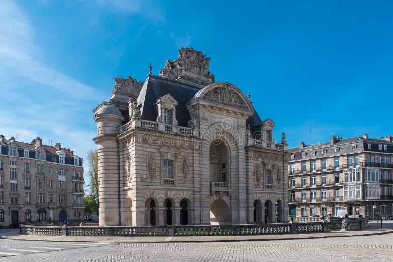 Lille, the Porte de Paris royalty free stock image