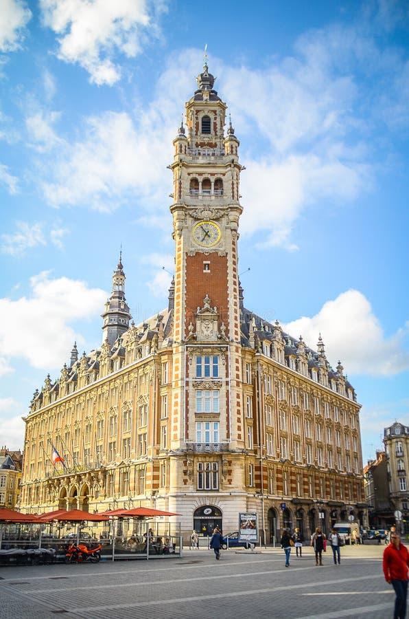 Lille stad i Frankrike royaltyfri bild