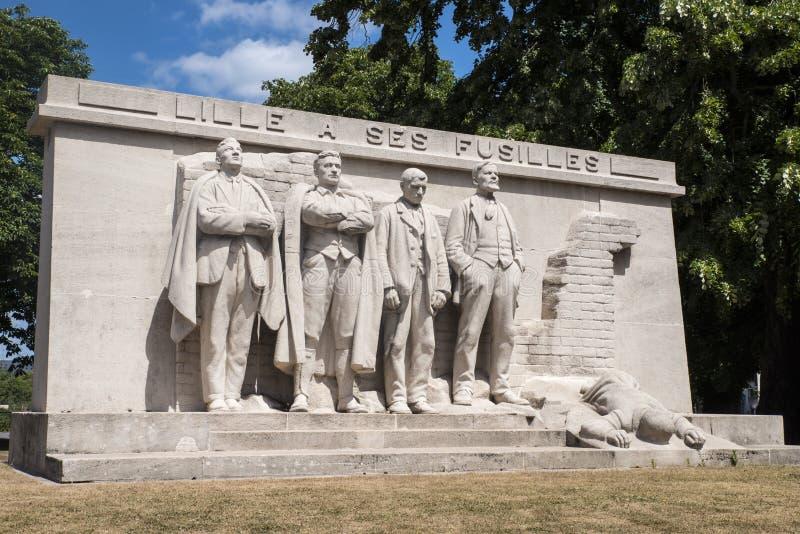 Lille un monumento di Ses Fusilles fotografia stock