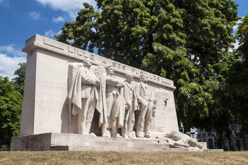 Lille un monumento di Ses Fusilles fotografie stock
