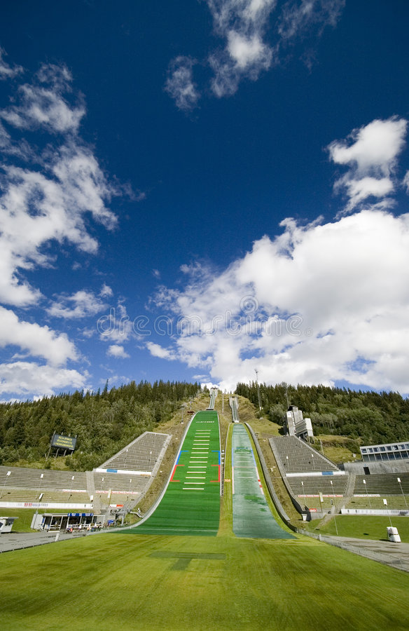 Download Lillehammer ski jumping stock image. Image of high, mountain - 3014431