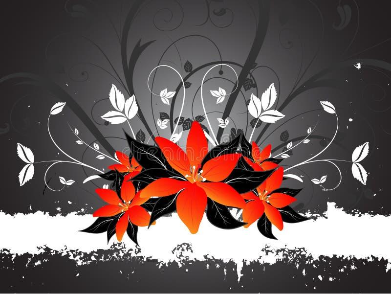 Lillies de Grunge ilustração stock