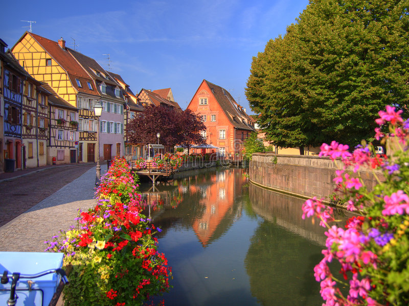 Download Lillte Venise in Colmar stock photo. Image of quay, flower - 3880162