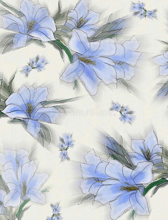Lilly błękit zdjęcia stock