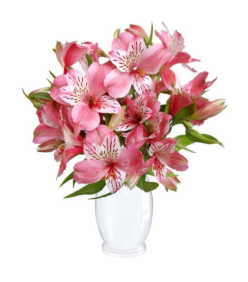 Lilly-Blumenblumenstrauß lizenzfreie stockfotos