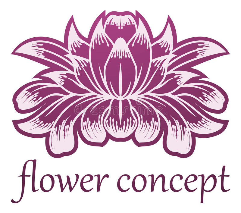 Lilly Flower Floral Design Concept symbol stock illustrationer