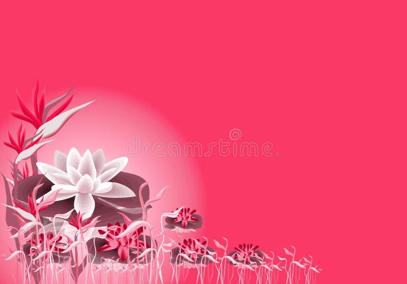 lilly lotos royalty ilustracja