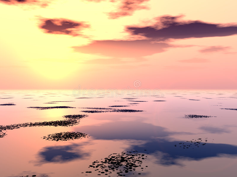 Download Lilly Pad Lake 3 stock illustration. Image of background - 707097