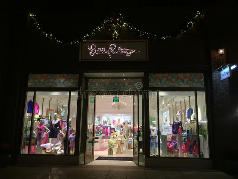 Lilly Pulitzer sklep, Disney wiosny, Orlando, FL zdjęcia royalty free