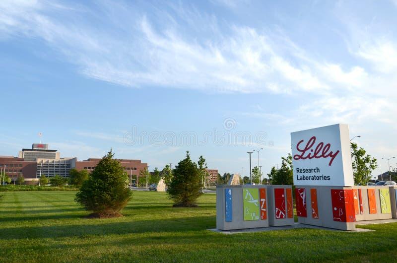 Lilly Research Laboratories, Indianapolis fotografía de archivo libre de regalías