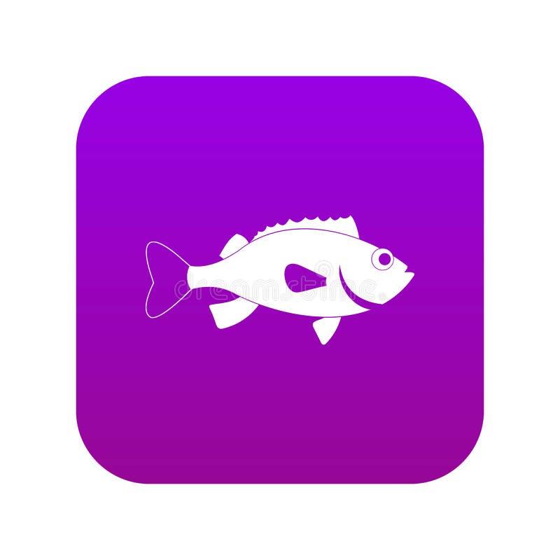 Lilor för symbol för fisk för havsbas digitala vektor illustrationer