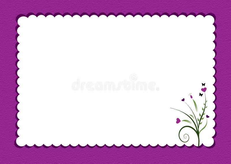 Lilor langetterad gräns med blommor vektor illustrationer