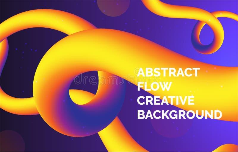 Lilor och gul lutningvätskebakgrund, baner för presentation som landar sidan, webbplats vektor illustrationer