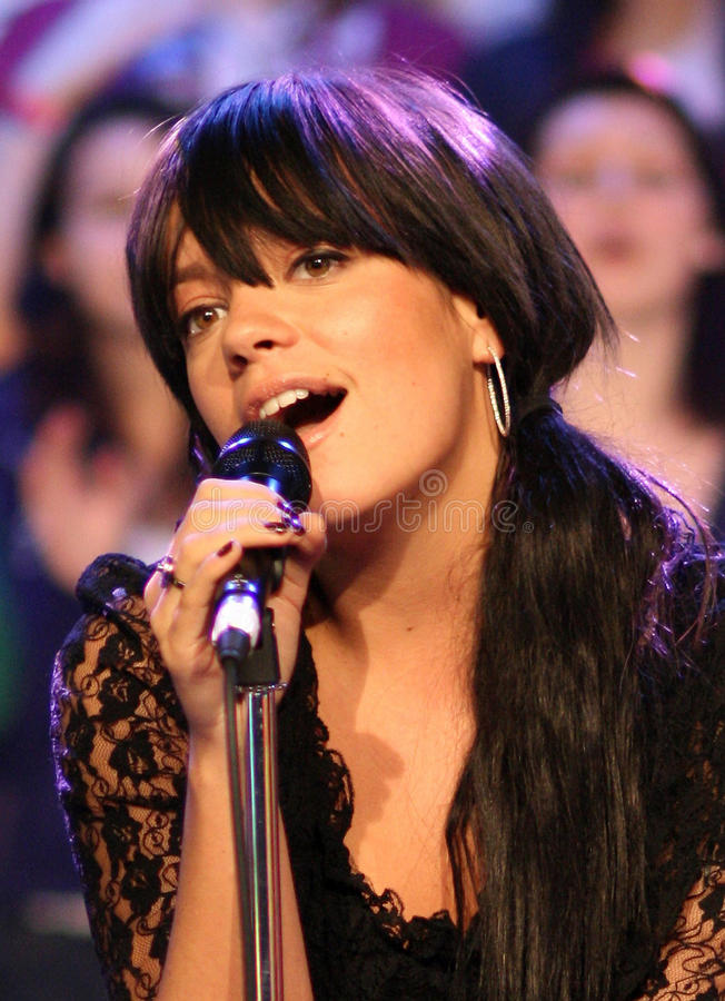 Lily Allen stock photography