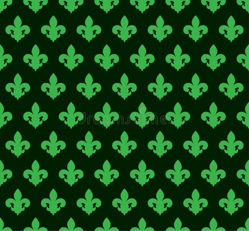 Lily_background_green_14 ilustración del vector